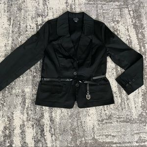 JKLA || black belted blazer jacket